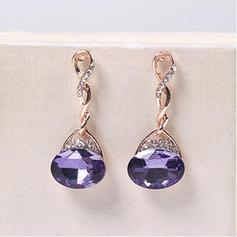 Luminoso Aleación Diamantes de imitación Vidrio con Rhinestone De mujer Sistemas de la joyería (Juego de 2)