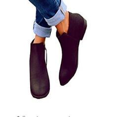 Pentru Femei Piele de Căprioară Fară Toc Botine cu Fermoar pantofi