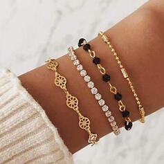 Alloy With Rhinestone Bracelets Beach Jewelry (Set of 4)