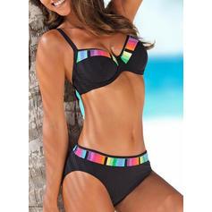 Låg Midja Splice färg Rem Sexig fashionabla Extra stor storlek bikini Badkläder