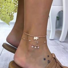 Alloy Beach Jewelry Anklets (Set of 3)