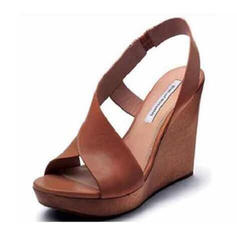 PU Wedge Heel Sandals Wedges With Buckle shoes