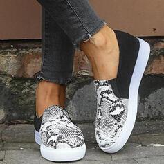 Női PU -Val Animal Print cipő