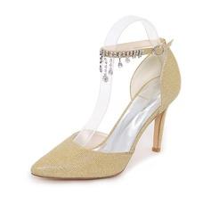 Kvinner Glitrende Glitter Stiletto Hæl Pumps med Kjede