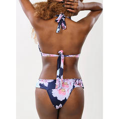 Floral Impresión Correa Sexy Bikinis Trajes de baño