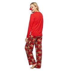 Pläd Print Matchande familj Jul Pyjamas Pyjamas