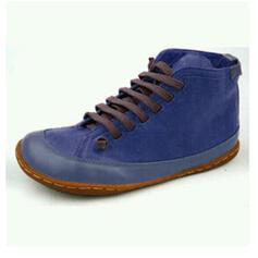 Női PU Lapos sarok Bokacsizma Kerek lábujj -Val Lace-up Splice szín cipő