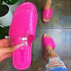 Vrouwen Fluwelen Flat Heel Slippers met Effen kleur schoenen