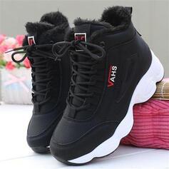 Dla kobiet Zamsz Płaski Obcas Plaskie Round Toe Z Sznurowanie Jednolity kolor obuwie