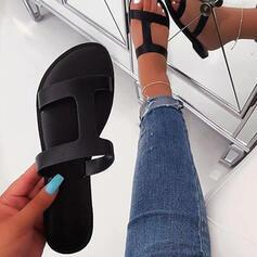Women's Fabric Flat Heel Sandals Peep Toe Slippers shoes