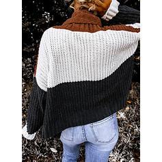 Bloc de culori Bucată tricotată Helancă Comod Kazaklar