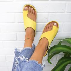 Cuero Tipo de tacón Sandalias Cuñas Pantuflas Anillo del dedo del pie Tacones con Otros zapatos