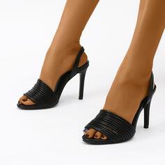 Женский PU Стилет каблук Peep Toe с Выдолбить обувь