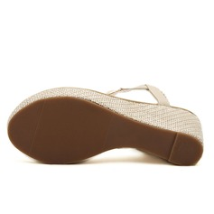Mulheres Couro Plataforma Sandálias com Strass sapatos