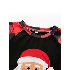 Santa Color-block Cartoon Family Matching Pajamas