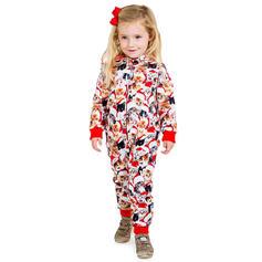 Tecknad Print Matchande familj Jul Pyjamas Pyjamas