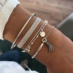 Unique Exquisite Stylish Alloy Jewelry Sets Bracelets Beach Jewelry (Set of 4 pairs)