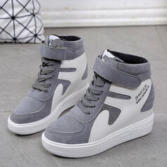 Закрытый носок ботинки Высокая вершина Круглый носок с Зашнуровать липучка обувь