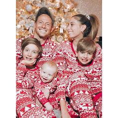 Ren Geyiği Imprimeu Aile Eşleşen Noel Pijamaları