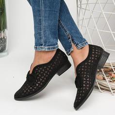 Pentru Femei PU călcâi plat Balerini cu Nod De la gât înafară pantofi