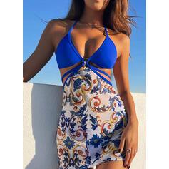 фешенебельный Повседневная утонченный Bikinis Женские комбинезоны купальников