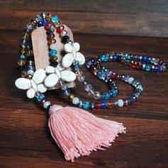 Utsökt Kristall med Tofsar Kvinnor Halsband