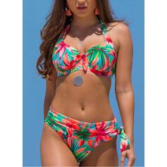 недоуздок V шеи сексуальный марочный свежий Bikinis купальников