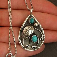 сплав с Минималистский дамский Ожерелья