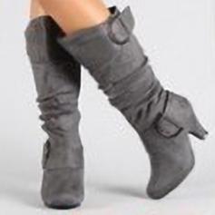 Pentru Femei Piele de Căprioară Toc gros Încălţăminte cu Toc Înalt Cizme cu Fermoar pantofi