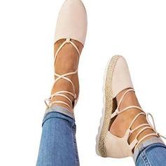 Femmes Suède Talon compensé Plateforme Compensée avec Dentelle chaussures