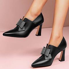 Női PU Kitten sarok Magassarkú Alacsony felső -Val Hegyikristály Csokornyakkendő Szolid szín cipő