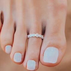 Attractive Charme Elegante Artístico Delicado Liga com Minimalista Senhoras Anéis