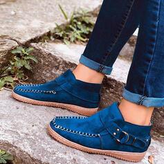 Mulheres PU Sem salto Sem salto Low Top com Rivet Fivela Animal da Cópia sapatos