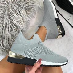 Dámské Létající tkát Placatý podpatek Boty Bez Podpatku Tenisky S Vydlabaný obuv