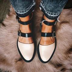 Pentru Femei PU călcâi plat Balerini Închis la vârf cu Altele pantofi
