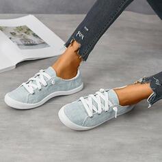 Женский холст Повседневная на открытом воздухе с Зашнуровать обувь
