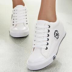 Mulheres Lona Sem salto Sem salto Low Top Toe rodada Espadrille com Aplicação de renda Impressão sapatos
