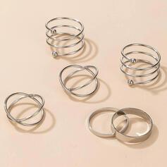Módní Slitina Dámské Prsteny 6 ks