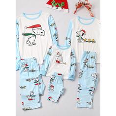 Rajzfilm Nyomtatás Családi Karácsonyi pizsamák