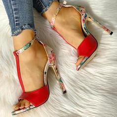 Women's Cloth Stiletto Heel Pumps Peep Toe With Animal Print shoes