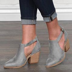 Dla kobiet PU Obcas Slupek Czólenka Zakryte Palce Z Klamra obuwie