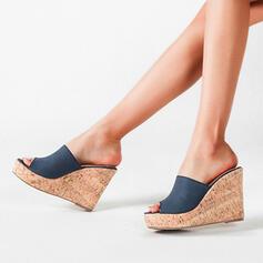 Bayanlar mikrofiber Sivri topuk Peep Toe ayakkabı