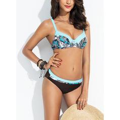 Impresión Correa Sexy Talla extra Bikinis Trajes de baño