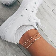 Alloy Anklets (Set of 3)