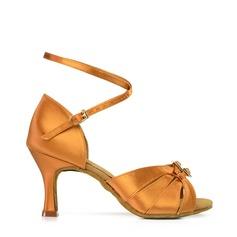 Pentru Femei Latin Tocuri Sandale Satin Mătase Banchet