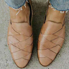 De mujer PU Tacón plano Planos con Cruzado zapatos