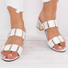Női PU Chunky sarok Szandál Magassarkú Papucs -Val Egyéb cipő