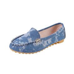 Плоский каблук Квартиры Круглый носок Мокасины Slip On с липучка Сплошной цвет обувь
