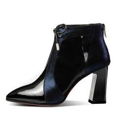 Bayanlar PU Topuklu ayakkabı Tıknaz Topuk Ayak bileği çizmeler Ile Bağcıklı ayakkabı ayakkabı