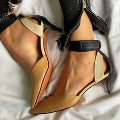 Női PU Tűsarok Szandál Magassarkú -Val Hálós ruha Splice szín cipő